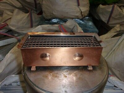 Copper Planter Trough with Grid 1960's (Flower Frog) Mitchel Rose Flat Copper
