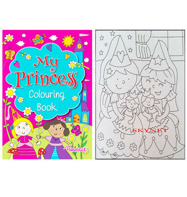 Childrens Kids Girls MY PRINCESS A4 Colouring Book 70 Pages