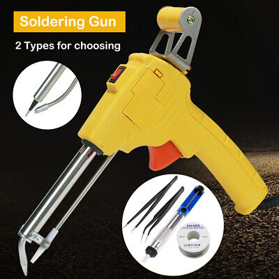 220V 60W Electric Soldering Iron Gun Automatic Send Tin Device Free Solder Wire