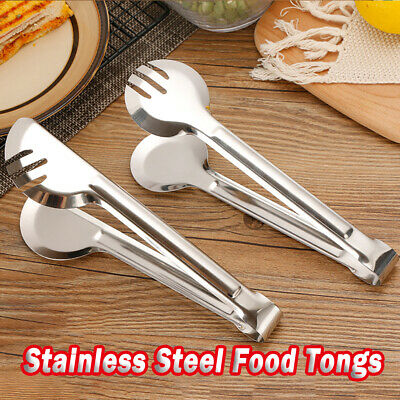 24cm Stainless Steel Salad Tongs BBQ Pasta Spaghetti Food Serving Tong Utensils