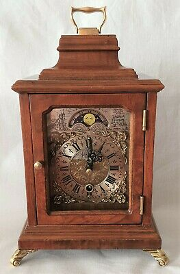 Warmink Clock Dutch Office Shelf Moon Dial No Bell 8 Day Key Wind Vintage Rare