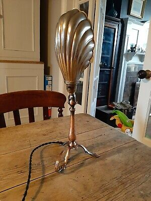 Arts And Crafts Benson Style Copper Brass  Pullman Lamp