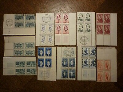France Lot 11 Blocs De 4 Timbres. Bonne Valeur