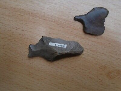 2 x Stone Flint Tools Japan Neolithic Mesolithic Prehistoric Japanese