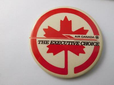 Air Canada Airlines Button Advertising The Executive Choice Travel Maple Leaf