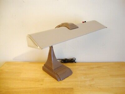 Vintage Art Specialty Co. Goose Neck Desk Lamp -Art Deco Brown/Tan -Works Great!
