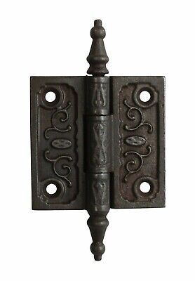 2.5 x 2.5 Victorian Cast Iron Butt Antique Door Hinge