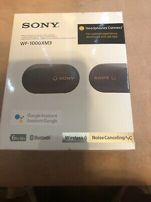 Sony WF-1000XM3 Wireless Noise Cancelling Headphones - Black Brand New