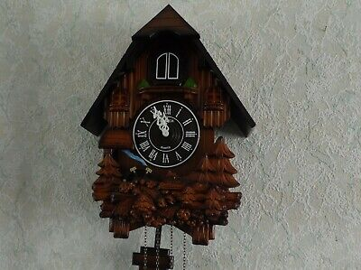 German kaiser Cuckoo Clock Wooden 12 Melodies Quartz