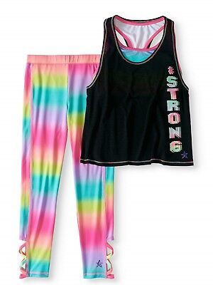 Freestyle Revolution Girls Active Tank & Capri Legging 2-Piece Set Size 4 NWT