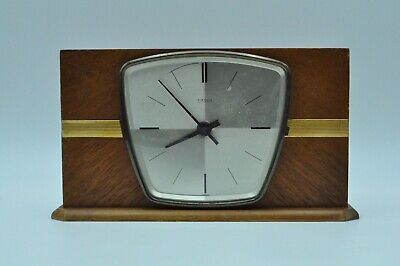 Vintage KIENZLE Battery Operated Wooden Mantle Clock 50s - 60s