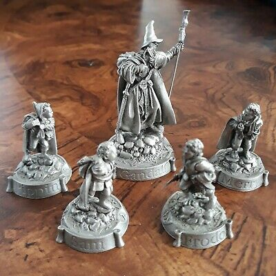 LOTR Pewter Gandalf & Hobbits (Frodo, Sam, Merry, Pippin) - Prince August