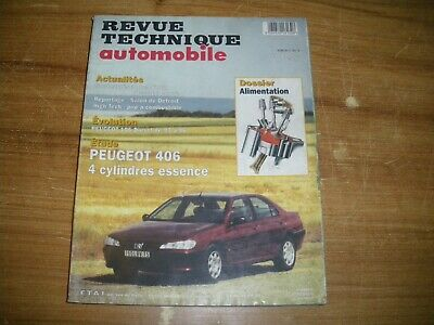 REVUE TECHNIQUE RTA PEUGEOT 406 4 cylindres ESSENCE