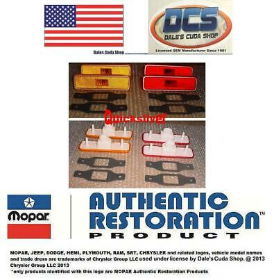 1972 - 1993 Plymouth 3587440 3587436 Amber & Red Rear Side Marker Set