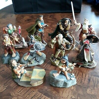 LOTR Collectibles, Lot Of 10 Danbury & Mint Resin Figurines. Hobbits,...