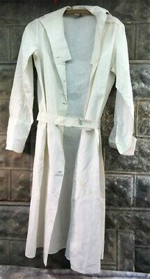 Vintage 1940s White Nurse Uniform Dress Jacket, WWII Medical Uniform Scrubs b