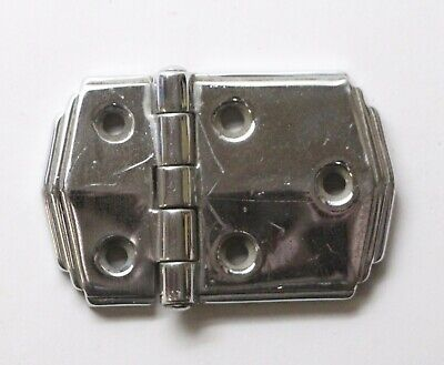 Chrome Art Deco Surface Cabinet Hinge