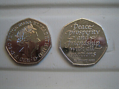 brexit 50p coin sent (1st class postage) from sealed bag