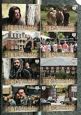 2018 Topps Amc The Walking Dead Road To Alexandria Factions 9 Card Set Lot Negan
