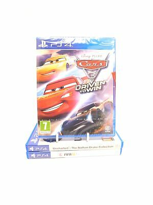3 PS4 Games CARS 3 DRIVEN TO WIN - New With Uncharted Collection & Fifa 18 - P17