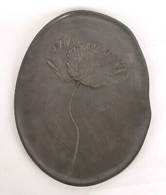 Kayserzinn Art Nouveau Pewter Poppy Tray Hugo Leven Arts and Crafts