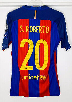 2016-17 Fc Barcelona Sergi Roberto UCL Home Player Issue