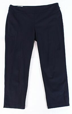 Charter Club Womens Pants Blue Size 22W Plus Tummy Control Slim Stretch $69 160