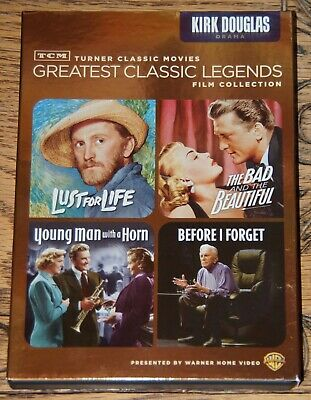 Kirk Douglas Tcm Greatest Classic Legends 4 Film Collection Usa R1 Dvd From Uk
