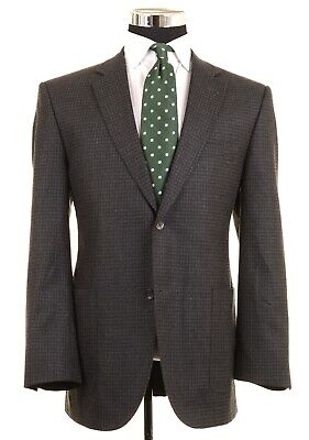 Jack Victor Gray Check LORO PIANA 120s Wool Patch Pockets Sport Coat Jacket 42 R