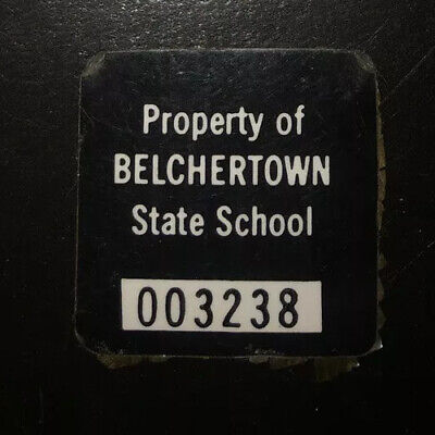 Belchertown State School Sticker Tag Massachusetts