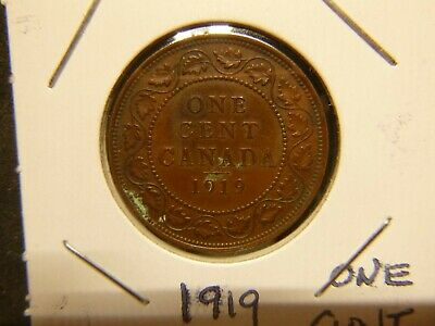 Canada 1919 Large One Cent
