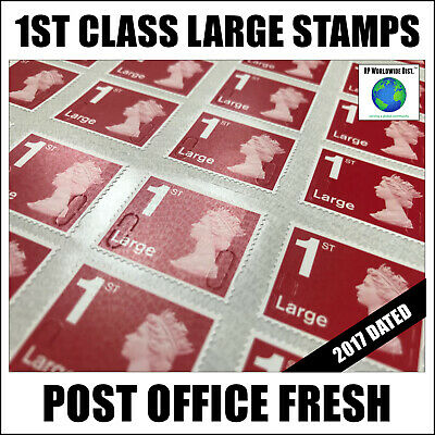 100 x 1st Class LARGE Postage Stamps BIG DISCOUNT First 2017 Brand New FAST POST