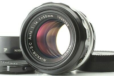 [Mint] Nikon Nikkor-S C Auto 50mm f/1.4 Manual Focus Lens + Hood from JAPAN 0717