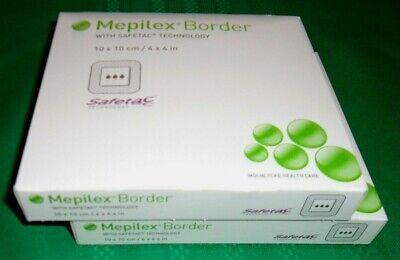 "Mepilex Border, Safetac Technology, 4"" x 4"" - 2 Full Boxes - New In Box!!!"