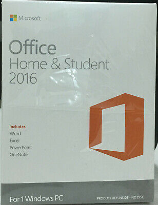 Microsoft Office Home and Student 2016 for Windows 1PC