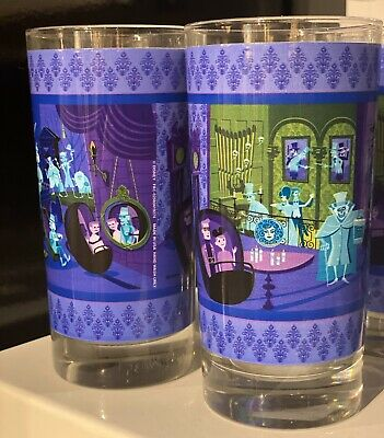 New SHAG Disney Parks Haunted Mansion 50th Anniv. 31 Ghosts Set Of 2 Glass Cup