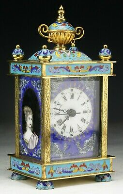 A Chinese Antique EXPORT Enamel Cloisonne on Bronze Clock