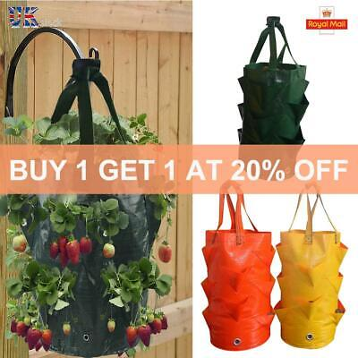 Grow Plant Bag Hanging Flower Garden Planter Outdoor Pouch Strawberry Herb Bags