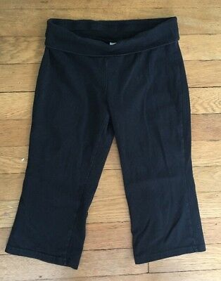 * old navy black yoga stretch lounge comfy active gym pants size small 6 -7 girl