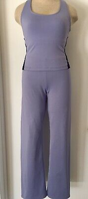 90s Vintage FILA Ladies PURPLE Athletic/Active FITNESS BRA PANTS Set SUIT~M  USA