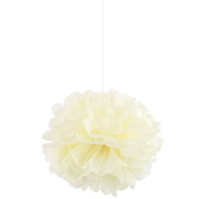 12 Inch Ivory Tissue Paper Pompom  Flower Balls Wedding Party Hanging Garland