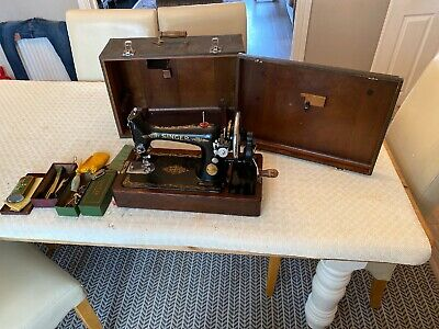 Singer Hand Crank Vintage Sewing Machine As Acquired See Pics