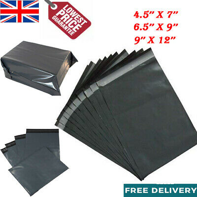 Grey Mailing Bags Strong Post Mail Postage Poly Bag Plastic Postal Self Seal