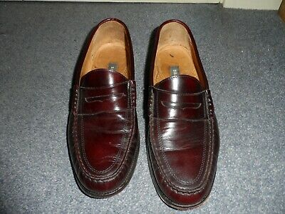 Men's Bally Brown Leather Slip On Shoes Size 9