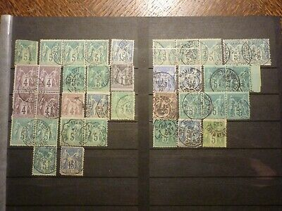 France Lot 37 Timbres Types Sage Obliteres. Bonne Valeur