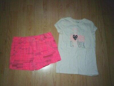 Justice & Jumping Beans 2 Piece Girls Outfit Size 6-7
