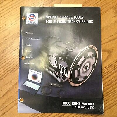 Allison Transmissions SPECIAL SERVICE TOOLS MANUAL BOOK TRUCK INDUSTRIAL MARINE