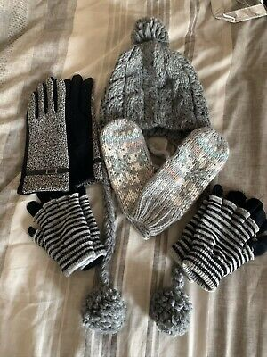 Hat And 4 Types Of Gloves , Mittens Never Worn