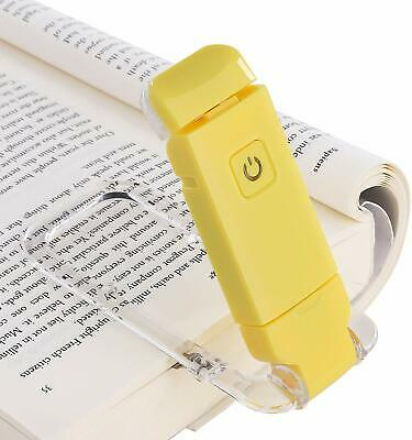 DEWENWILS LED USB Rechargeable Book Light for Reading in Bed Warm White HBRL01Y