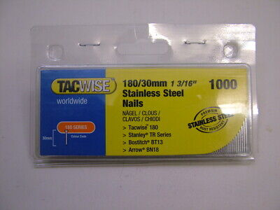 2nd fix Stainless Steel straight brad finish nails 18 gauge 30mm box of 1000